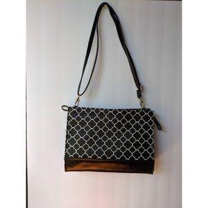Bueno Long Strap Shoulder Bag Geometric Pattern